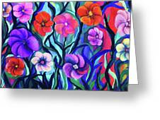 Floral No. 1 Greeting Card by Jeanette Stewart