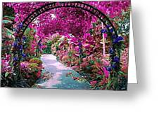 Floral Pathway Greeting Card