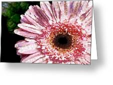 Floral Pink Creative Fragmented In Thick Paint Greeting Card