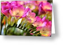 Floral She Sparkles Greeting Card
