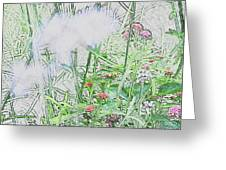 Floral Sketch Greeting Card