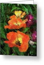 Floral Spring Tulips 2017 Pa 02 Vertical Greeting Card