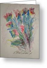 Floral Study In Pastels B Greeting Card