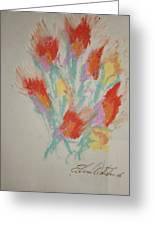 Floral Study In Pastels Cc Greeting Card
