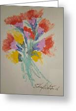 Floral Study In Pastels X Greeting Card