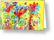Floral Swirls Greeting Card