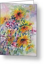Floral Symphony Greeting Card