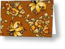 Floral Textile Design Greeting Card