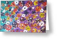 Floral Theme Greeting Card