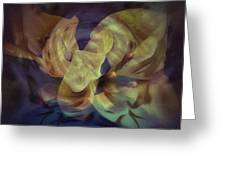 Floral Vortex Greeting Card