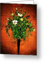 Floral Wall Arrangement Greeting Card