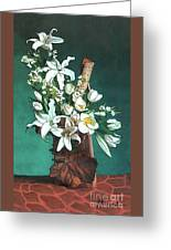 Floral White Lilies  Greeting Card