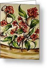 Floral Wisp Greeting Card