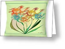 Floral Wonder  Pillow Greeting Card