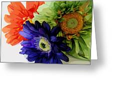 Floral X Three Greeting Card