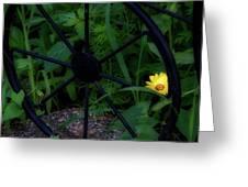 Floral Yellow Peek A Boo Greeting Card