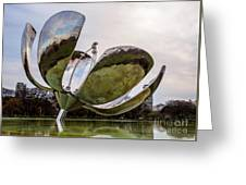 Floralis Generica, Buenos Aires, Argentina Greeting Card