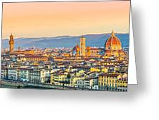 Florence At Sunrise - Tuscany - Italy Greeting Card