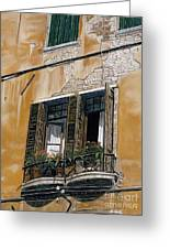 Florence Balcony Greeting Card
