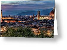 Florence In The Evening Greeting Card