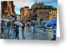 Florence In The Rain Greeting Card