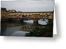 Florence Italy - An Autumn Day At Ponte Vecchio Greeting Card