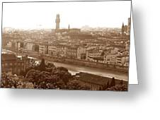 Florence Italy Wide Greeting Card