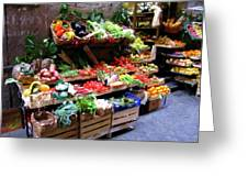 Florence Produce Stand Greeting Card