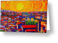 Florence Sunset 12 Greeting Card