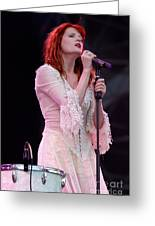 Florence Welch Singer Of Florence And The Machine Performing Live - 002 Greeting Card