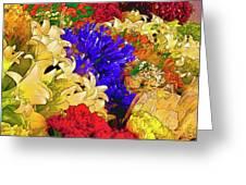 Flores Y Lilas Greeting Card