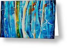 Floresta Azul Greeting Card