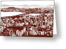 Florianopolis Downtown Greeting Card