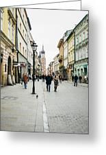 Florianska Krakow Greeting Card
