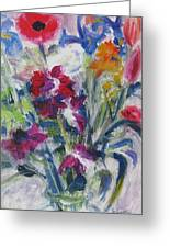 Floribunda Bouquet Greeting Card