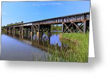 Florida East Coast Railroad Bridge Greeting Card