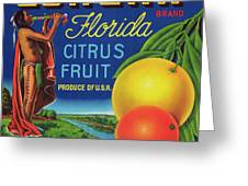 Florida Eureka Citrus Fruit Crate Label Greeting Card
