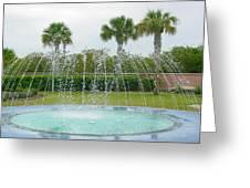 Florida Fountain Greeting Card