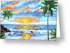 Florida Keys Beach Sunset Greeting Card