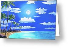 Florida Keys Moon Rise Greeting Card