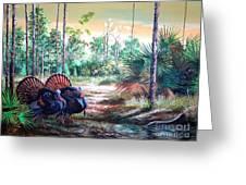 Florida Osceola Turkeys- The Two Kings Greeting Card