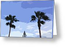 Florida Queen Palms   Greeting Card