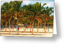 Florida Style Volleyball Greeting Card