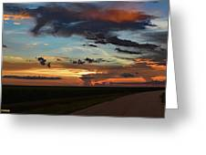 Florida Sunset Winding Road 2 Greeting Card