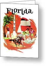 Florida, Vintage Travel Poster Greeting Card