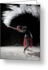 Flour Dancing Series Greeting Card by Cindy Singleton