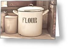 Flour Tin Greeting Card