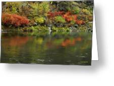 Flow Of Autumn Greeting Card