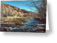 Flow Of The Verde River Greeting Card