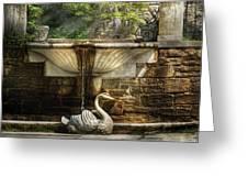 Flower - Wisteria - Fountain Greeting Card